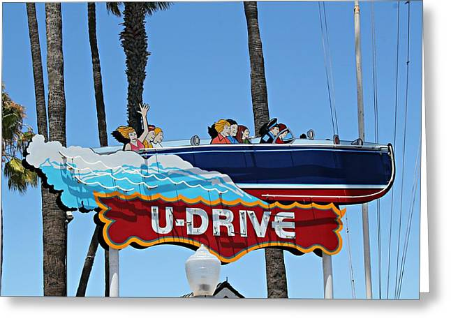 U-drive Boat Sign Greeting Card