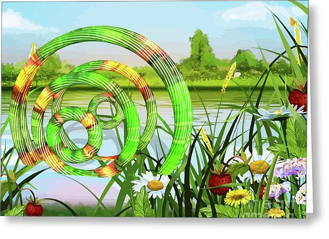 U F O In A River Art Greeting Card