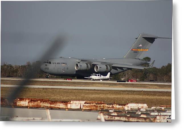 Greeting Card featuring the photograph U S Airforce Plane by Michael Albright
