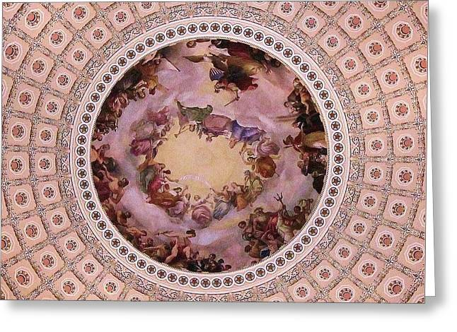 U S Capitol Dome Mural # 3 Greeting Card