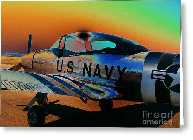 U S Navy  Greeting Card by Diane E Berry