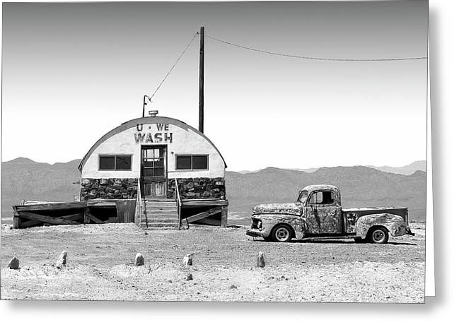 U - We Wash - Death Valley Greeting Card by Mike McGlothlen