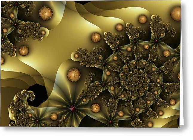 u026-2 Golden Orbs Wop-Wop_a Greeting Card