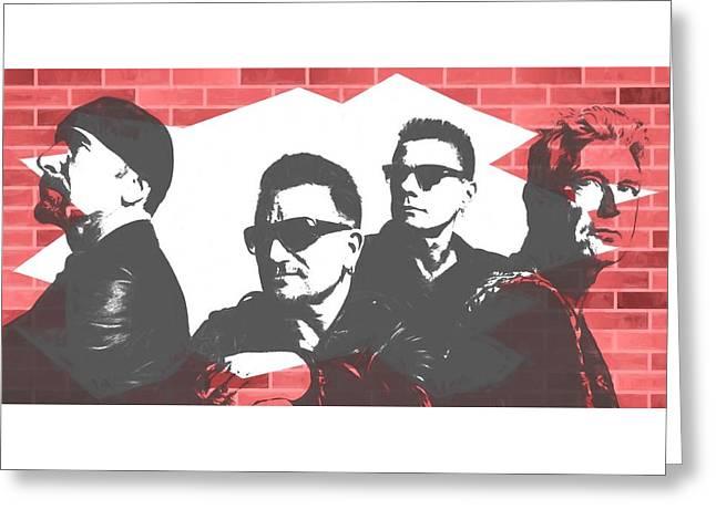 U2 Graffiti Tribute Greeting Card