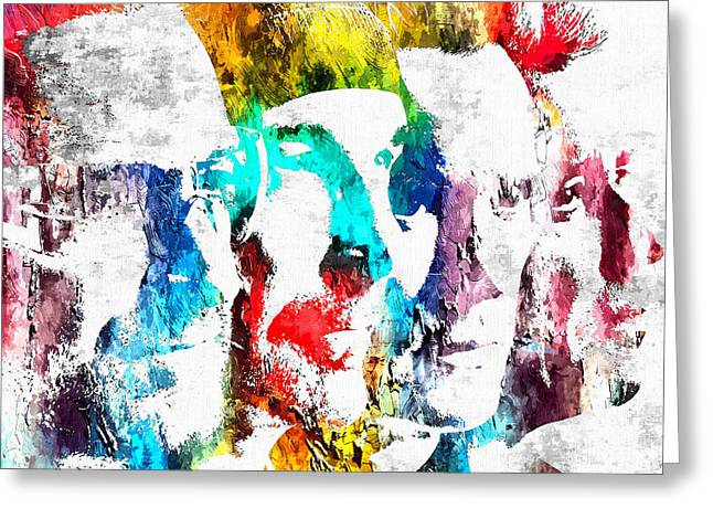 U2 Grunge Greeting Card by Daniel Janda
