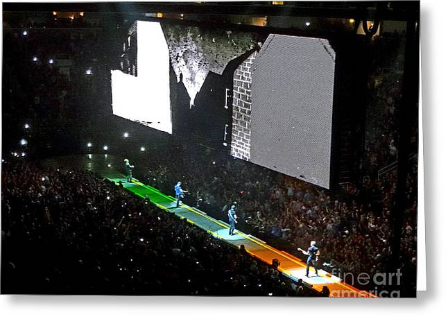 U2 Innocence And Experience Tour 2015 Opening At San Jose. 4 Greeting Card