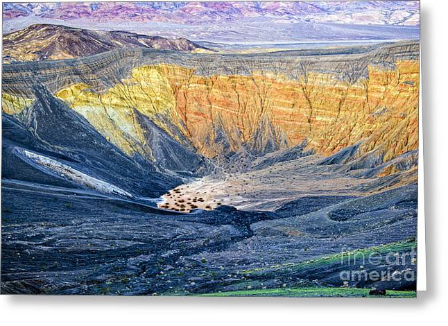 Ubehebe Crater Greeting Card by Charles Dobbs