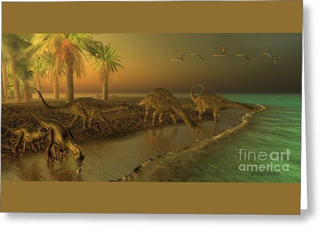 Uberabatitan Dinosaurs Greeting Card