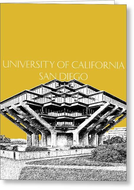 Uc San Diego Gold Greeting Card by DB Artist