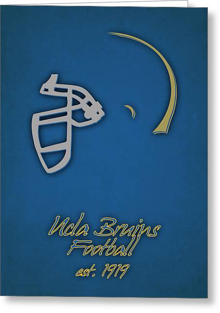 Ucla Bruins Helmet Greeting Card by Joe Hamilton