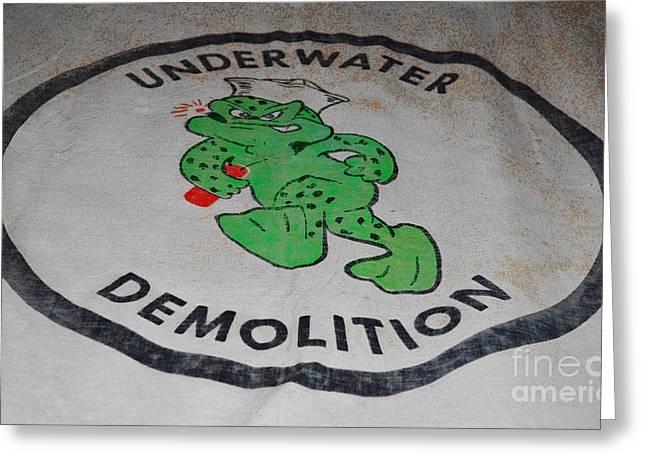 Wibada Photo Greeting Cards - UDT Frogman Flag Greeting Card by Lynda Dawson-Youngclaus