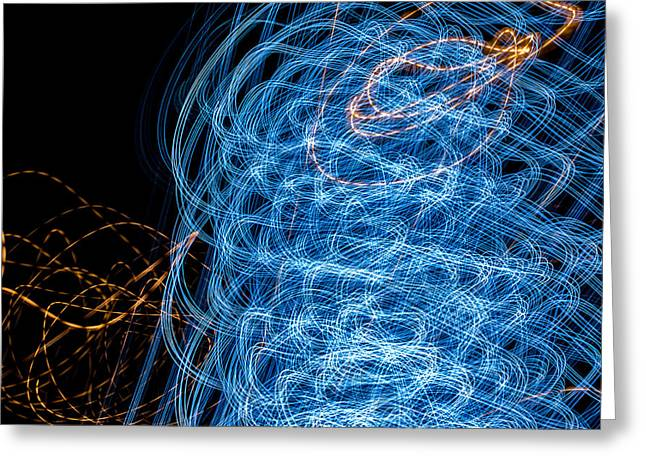 Ufa Neon Abstract Light Painting Sodium #7 Greeting Card