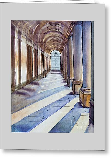 Uffizi Light Greeting Card by Dianne Green