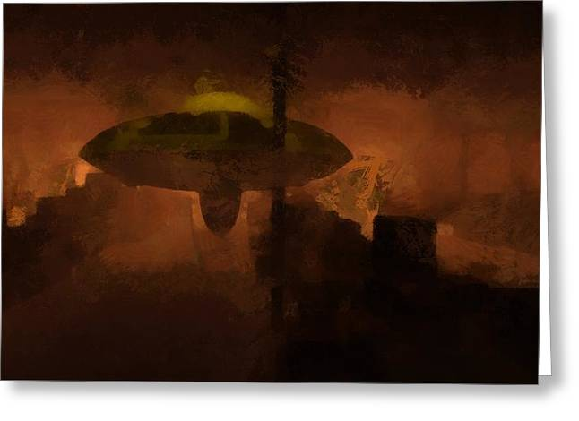 Ufo Area 51 Greeting Card by Raphael Terra