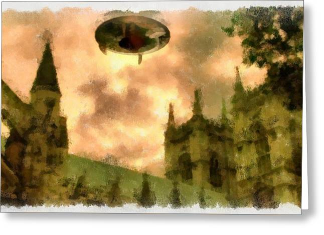Ufo Cathedral Greeting Card