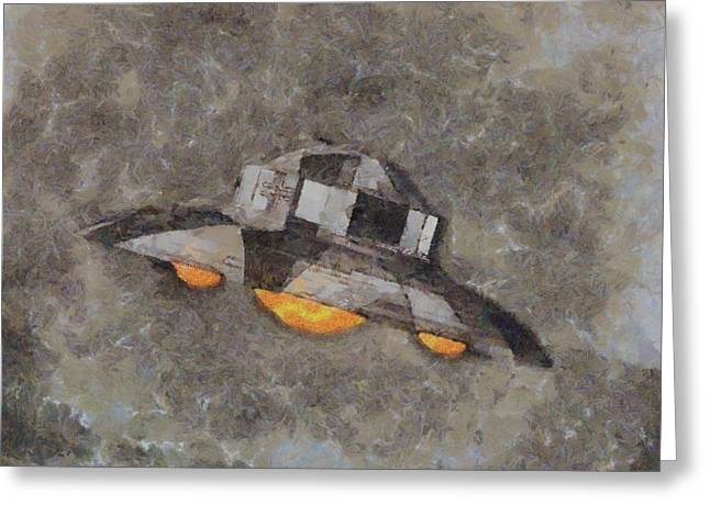 Ufo Mystery By Raphael Terra Greeting Card by Raphael Terra