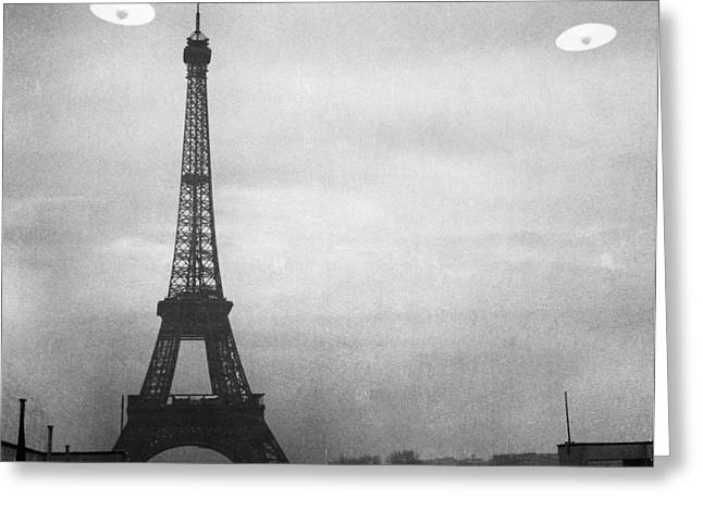 Ufo: Paris Greeting Card by Granger