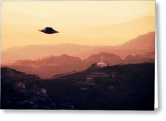 Ufo Sighting Greeting Card