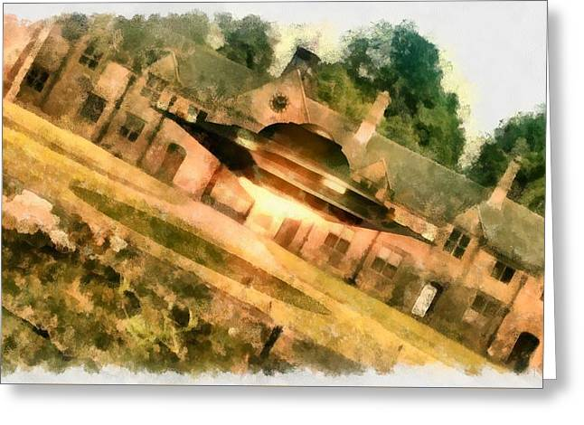 Ufo Stately Home Greeting Card by Esoterica Art Agency