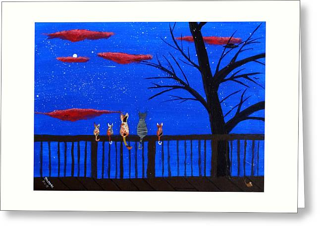 Ufo Watch Greeting Card by Michael Moore