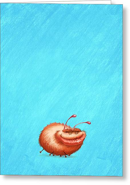 Ugly Bug Greeting Card by Andy Catling