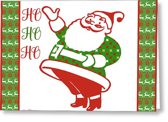 Ugly Christmas Sweater Santa-a Greeting Card by Jean Plout