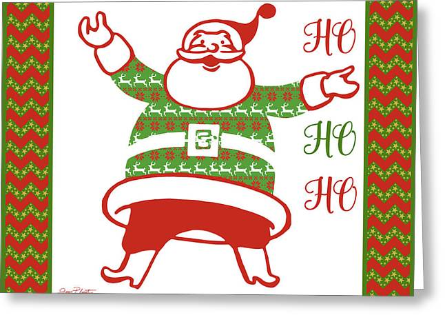 Ugly Christmas Sweater Santa-b Greeting Card by Jean Plout