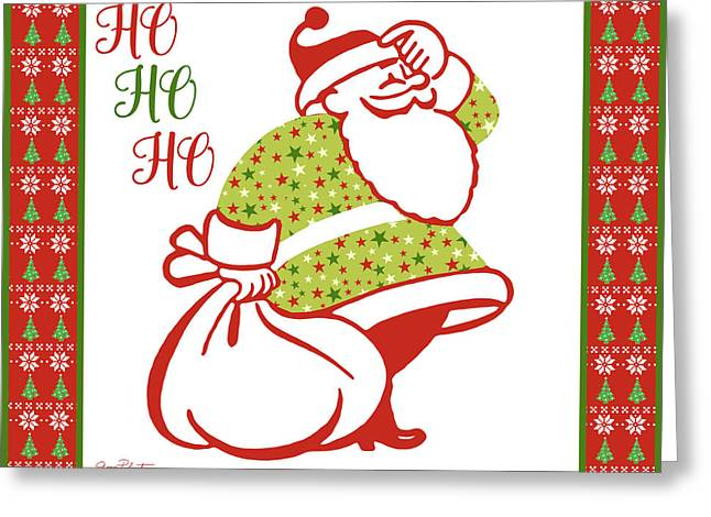 Ugly Christmas Sweater Santa-c Greeting Card by Jean Plout