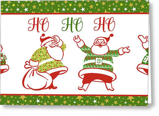 Ugly Christmas Sweater Santas-e Greeting Card by Jean Plout