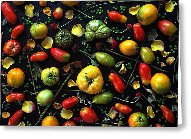 Heirloom Tomato Patterns Greeting Card