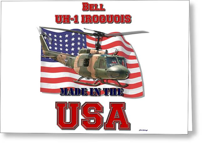Uh-1 Iroquois Made In The Usa Greeting Card