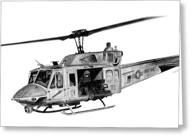 Uh-1n Iroquois Greeting Card by Dale Jackson