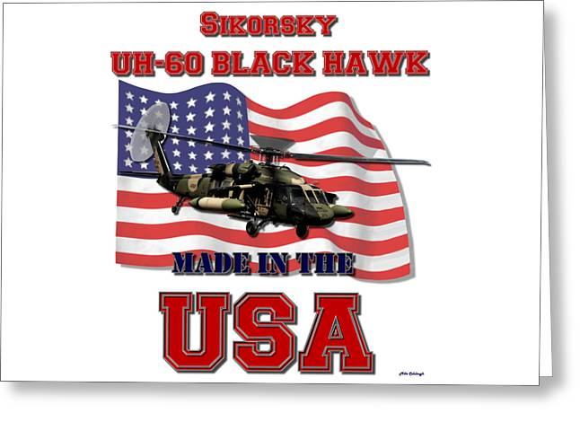 Uh-60 Black Hawk Made In The Usa Greeting Card