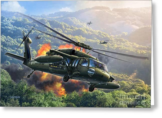Uh-60 Blackhawk Greeting Card