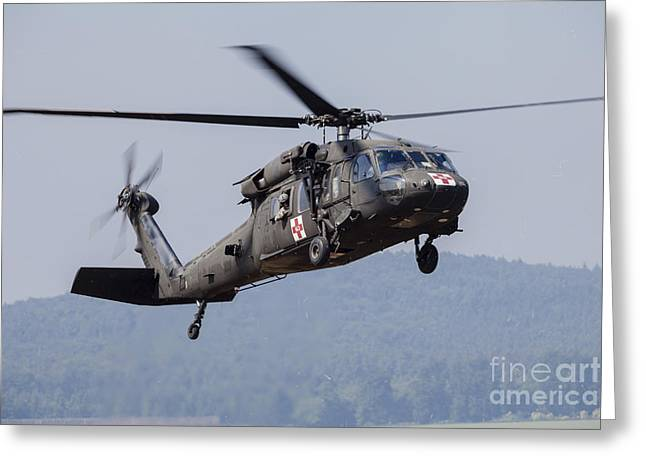 Uh-60a Black Hawk Medevac Helicopter Greeting Card by Timm Ziegenthaler