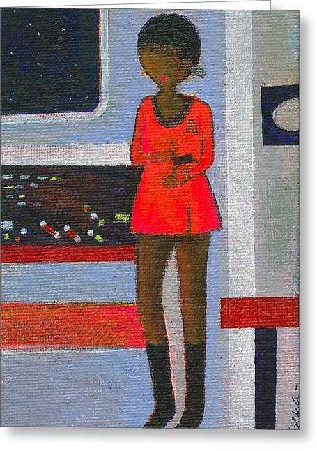 Uhura Stars In Space 2 Greeting Card by Ricky Sencion