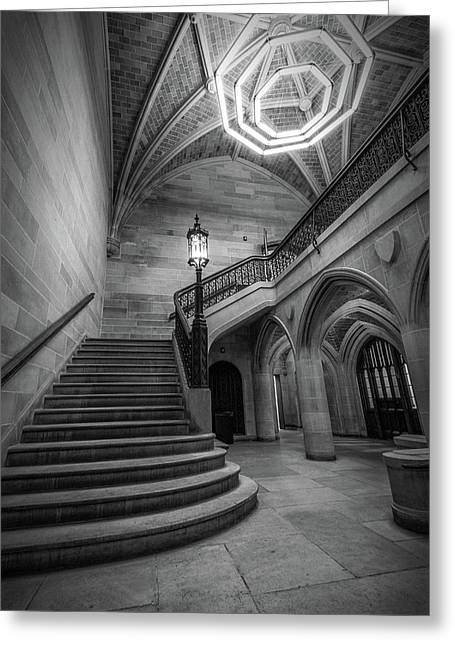 Saieh Hall Staircase At Uic Greeting Card