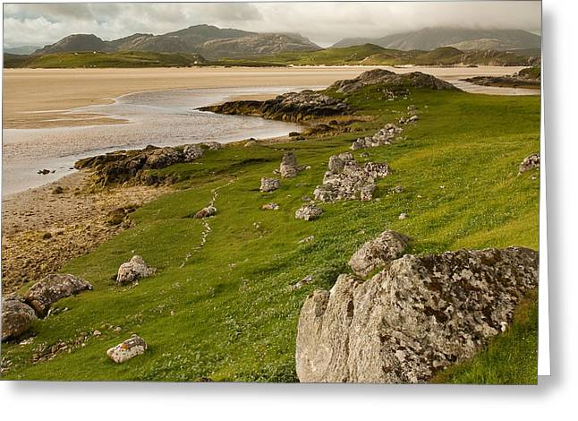 Uig Sands - Isle Of Lewis Greeting Card