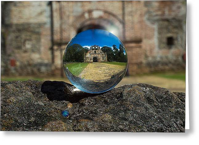 Ujarras Ruins In A Ball Greeting Card