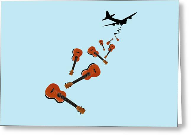 Ukes Not Nukes Greeting Card