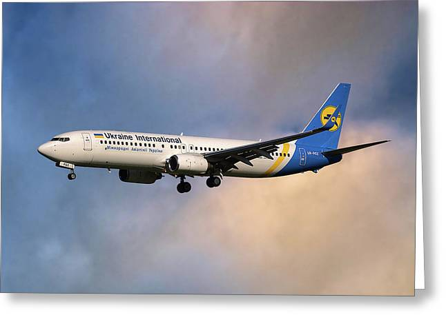 Ukraine International Airlines Boeing 737-8eh Greeting Card