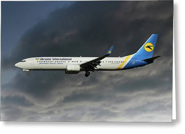 Ukraine International Airlines Boeing 737-9kv Greeting Card