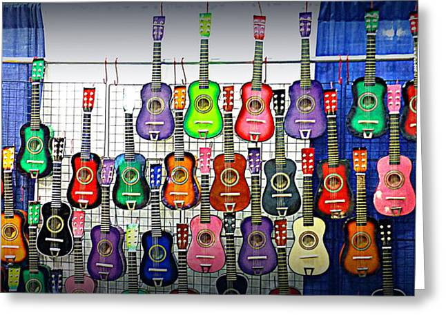Greeting Card featuring the photograph Ukuleles At The Fair by Lori Seaman