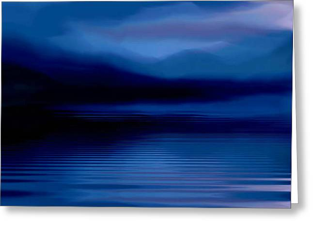 Ullswater At Dusk Greeting Card
