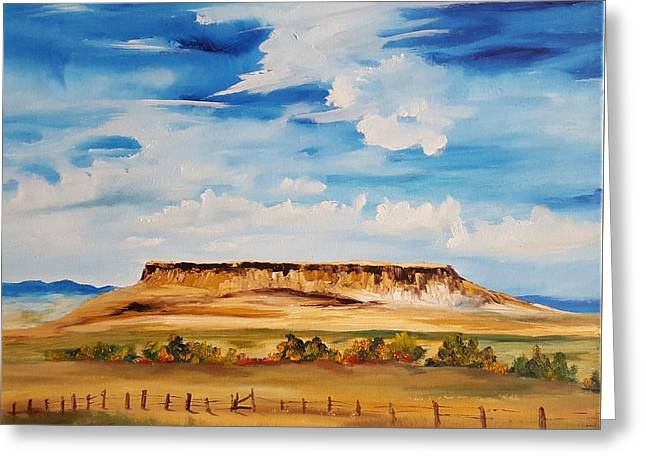 Ulm Montana First People's Buffalo Jump   93 Greeting Card