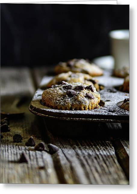 Ultimate Chocolate Chip Muffins Greeting Card