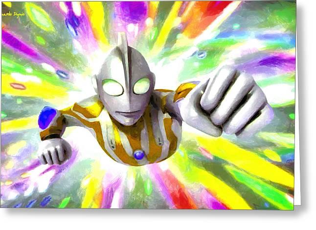 Ultraman - Pa Greeting Card