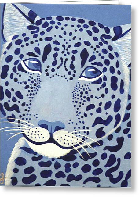 Ultramarine Jaguar Greeting Card