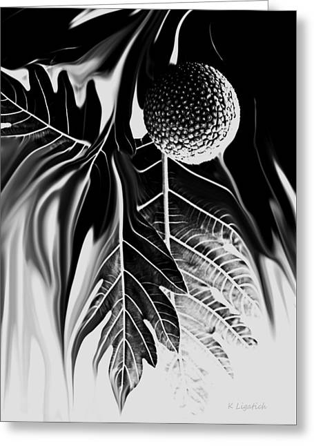 Ulu - Breadfruit Abstract Greeting Card