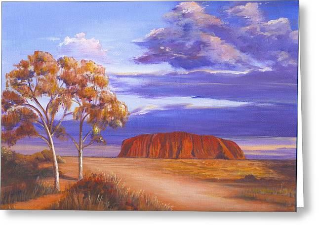 Uluru  - Ayers Rock Greeting Card by Robynne Hardison
